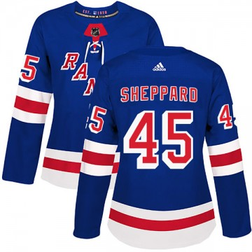 Authentic Adidas Women's James Sheppard New York Rangers Home Jersey - Royal Blue