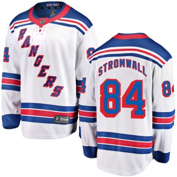 Breakaway Fanatics Branded Youth Malte Stromwall New York Rangers Away Jersey - White
